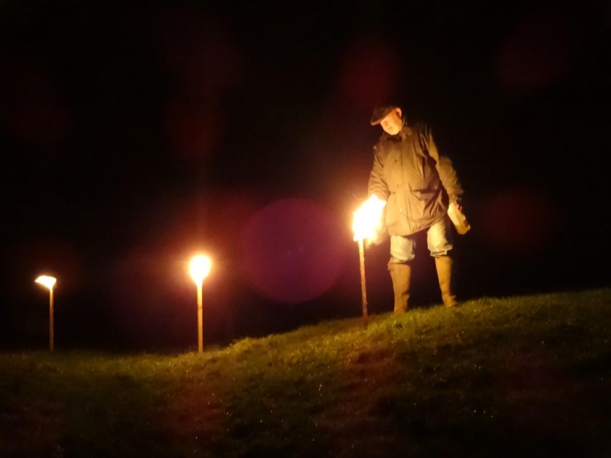 Wassail - lighting torch