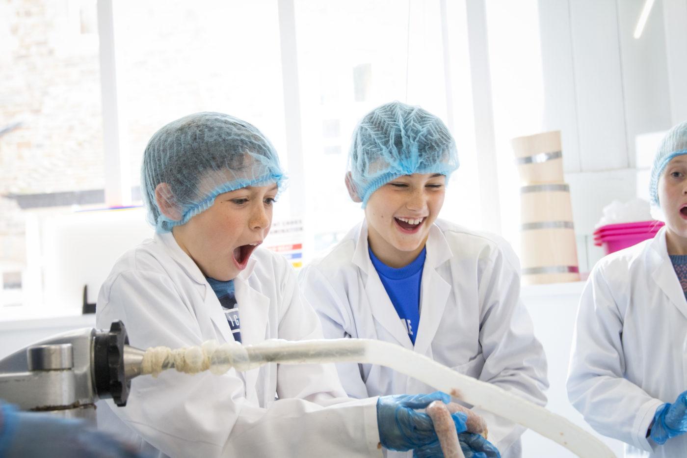 Children making sausages