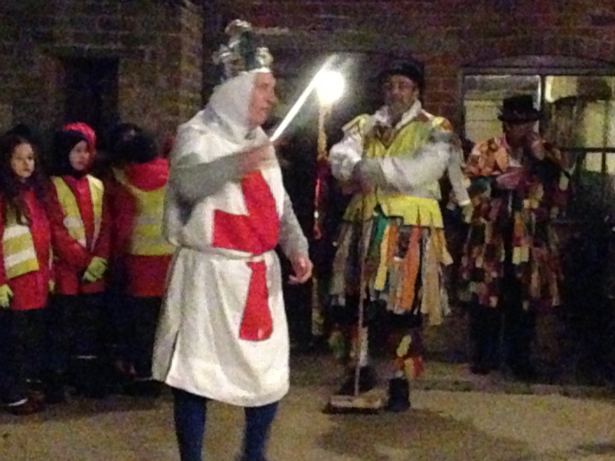 Wassail - a knight with his sword